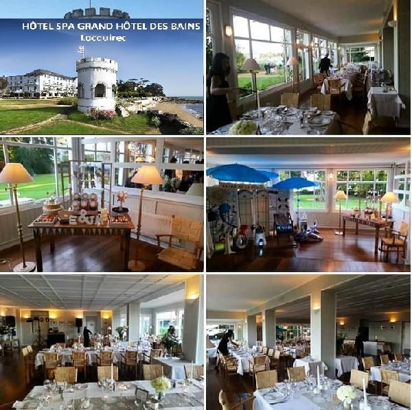 Mariage &agrave; Grand H&ocirc;tel des Bains 4*<br /> Bretagne - Locquirec